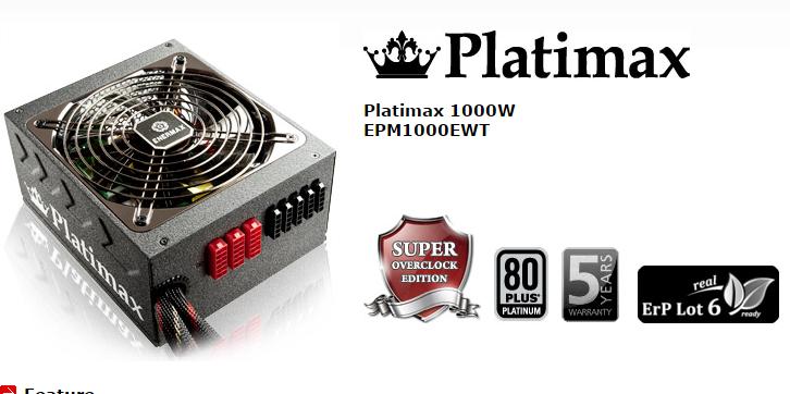 Enermax Platimax Series 80+ Platinum Modular
